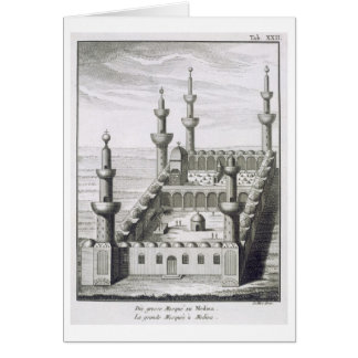 The Great Mosque at Medina, from 'Voyages en Arabi Card
