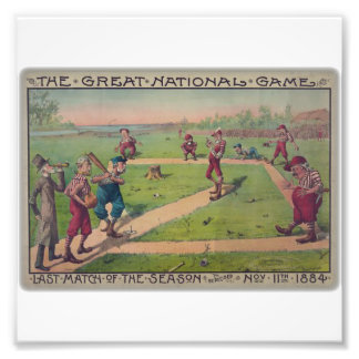 The great national game. Last match of the season Photographic Print