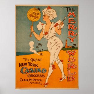 The Great New York Casino Success Theatre Print