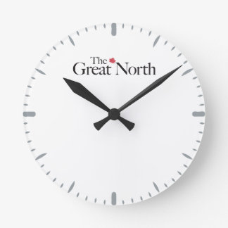The Great North CANADA Maple Leaf CLassic Round Clock