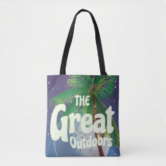The Great Outdoors Palm and Moon Tote Bag