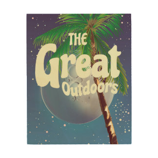 The Great Outdoors Palm and Moon Wood Wall Art