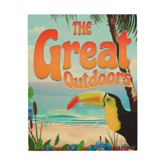 The Great Outdoors Toucan Wood Print