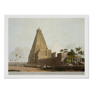 The Great Pagoda, Tanjore, plate XXIV from 'Orient Poster