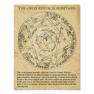The GREAT PENTACLE AEMETHMS Poster