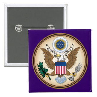 The Great Presidential Seal of the USA 15 Cm Square Badge