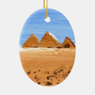 The Great Pyramids Ceramic Oval Decoration