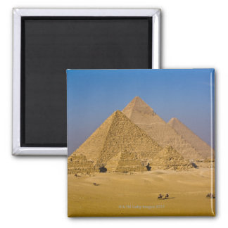 The Great Pyramids of Giza, Egypt Square Magnet