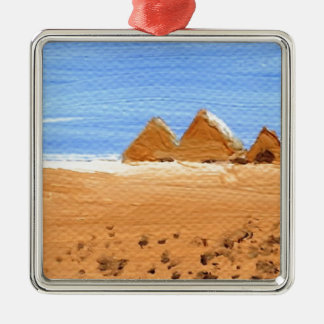 The Great Pyramids Silver-Colored Square Decoration