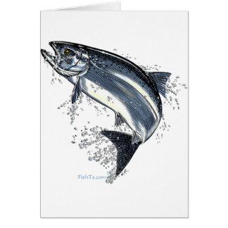 The Great Salmon Going Upstream Greeting Card