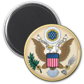 The Great Seal 6 Cm Round Magnet
