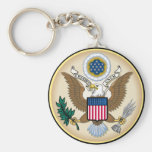The Great Seal Basic Round Button Key Ring