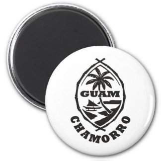 The great seal of Guam 6 Cm Round Magnet