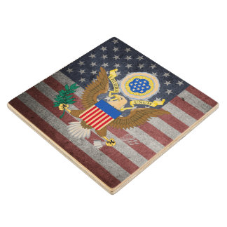 The Great Seal of the United States Wood Coaster