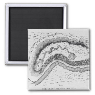 The Great Serpent Mound Magnet