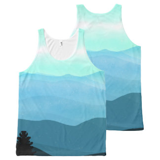 The Great Smoky Mountains Landscape All-Over Print Singlet