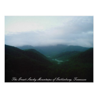 The Great Smoky Mountains of Gatlinbu... Poster