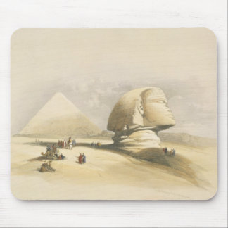 """The Great Sphinx and the Pyramids of Giza, from """"E Mouse Pad"""