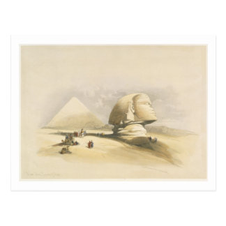 "The Great Sphinx and the Pyramids of Giza, from ""E Postcard"