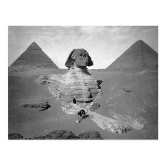 The Great Sphinx & Pyramids, 1878 Postcard