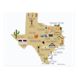 The Great State of Texas Postcard