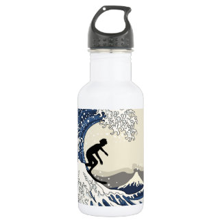 The Great Surfer of Kanagawa 532 Ml Water Bottle