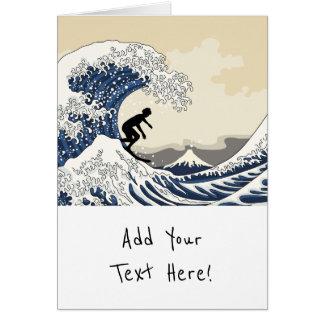 The Great Surfer of Kanagawa Card