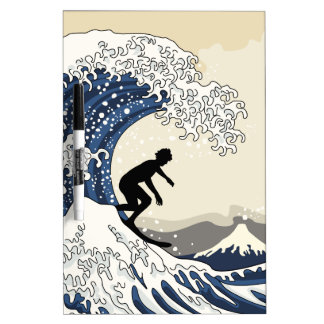 The Great Surfer of Kanagawa Dry Erase Board