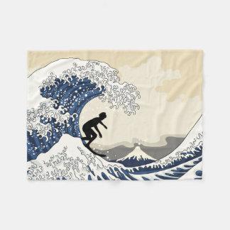 The Great Surfer of Kanagawa Fleece Blanket