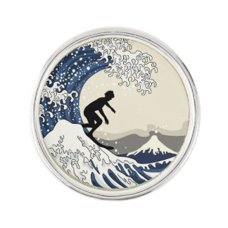 The Great Surfer of Kanagawa Lapel Pin