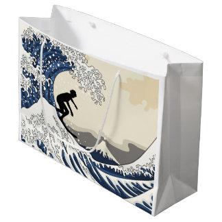 The Great Surfer of Kanagawa Large Gift Bag