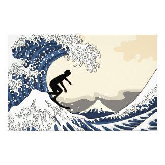 The Great Surfer of Kanagawa Stationery