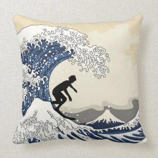 The Great Surfer of Kanagawa Throw Pillow