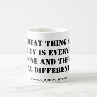 THE GREAT THING ABOUT REALITY BASIC WHITE MUG