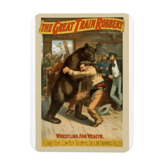 The Great train robbery Rectangular Photo Magnet