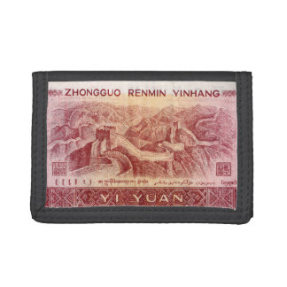 The Great Wall on the Back of Chinese Money Bill Trifold Wallet