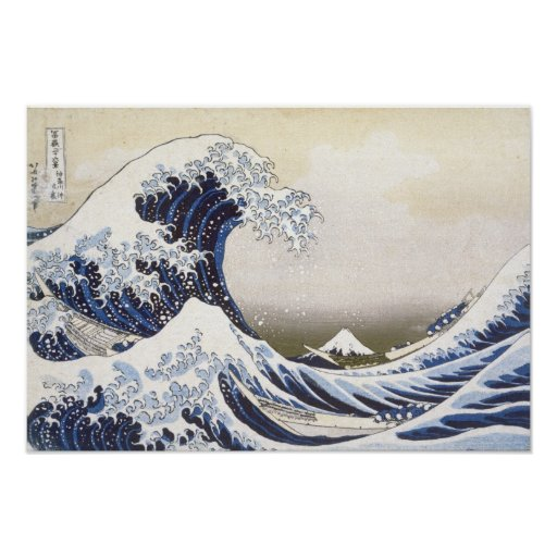 The Great Wave by Hokusai Posters