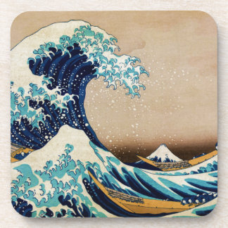 The Great Wave by Hokusai Vintage Japanese Beverage Coasters