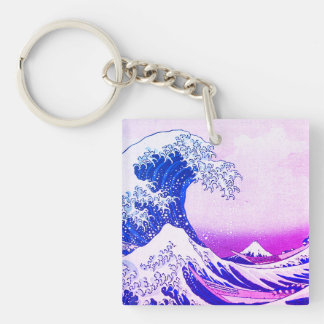 The Great Wave Double-Sided Square Acrylic Key Ring
