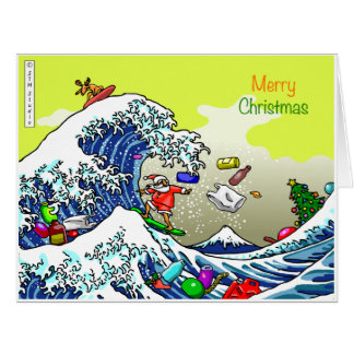 THE GREAT WAVE for Xmas Card