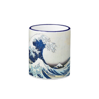 """""""The Great Wave"""" Japanese Painting by Hokusai Mugs"""
