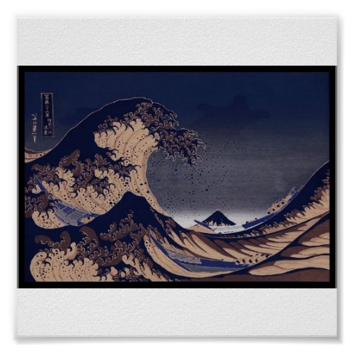 The Great Wave, Japanese painting c. 1830-1832 Posters