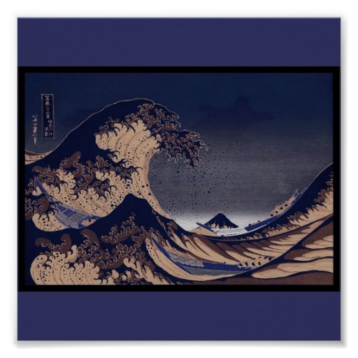 The Great Wave, Japanese painting c. 1830-1832 Print