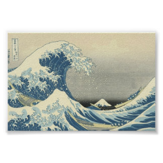 """The Great Wave""  Japanese painting c. 1830-1832 Poster"