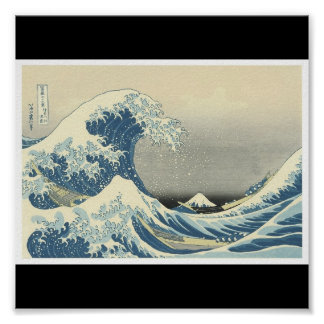 The Great Wave Japanese painting c 1830-1832 Print