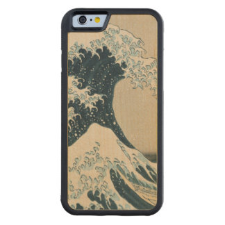 The Great Wave of Kanagawa, Views of Mt. Fuji Maple iPhone 6 Bumper