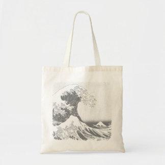 The Great Wave off Kanagawa (神奈川沖浪裏) Budget Tote Bag
