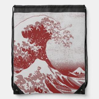 The Great Wave off Kanagawa (神奈川沖浪裏) Drawstring Backpack