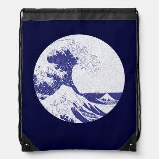 The Great Wave off Kanagawa (神奈川沖浪裏) Drawstring Backpacks