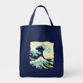 The Great Wave off Kanagawa (神奈川沖浪裏) Grocery Tote Bag
